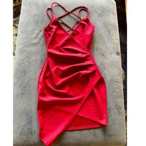Windsor Store Asymmetrical Bodycon Dress